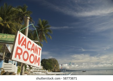 vacant room sign
