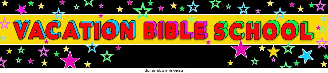 Vacation Bible School Banner - Large - Text area in the middle for personalization.