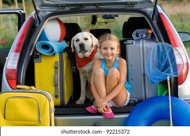 Vacation, Travel - family ready for the travel for summer vacation