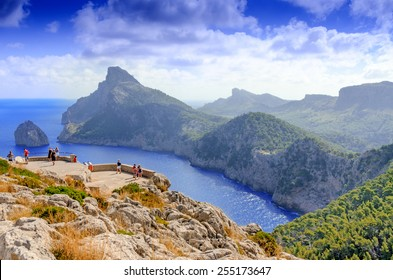 Vacations at Spain: Mallorca landscape and view to Cape Formentor