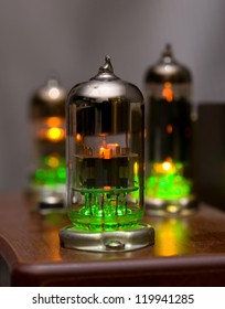 Vacuum tube with green backlight