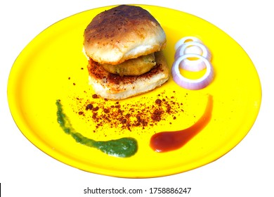 Vada pav is indian, is a street fast food dish