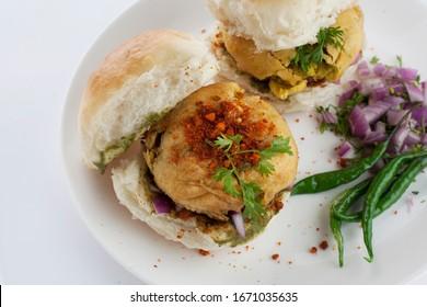Vada pav or wada pav is an Indian style burger, a street food popular in Mumbai a city in Maharashtra