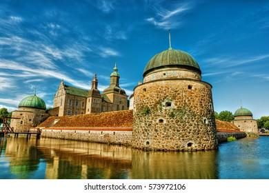 Vadstena Castle (Vadstena slott) in Vadstena (Sweden), HDR-technique