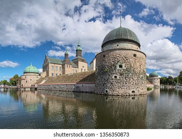 VADSTENA, SWEDEN - AUGUST 25, 2013: Vadstena Castle. View from south-west. Construction of the castle was started in 1545. The castle was completed in 1620.