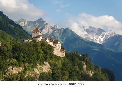 Vaduz castle in the capital of Liechtenstein