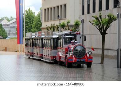 Vaduz, Liechtenstein -  06 08 2016: Citytrain in Liechtenstein