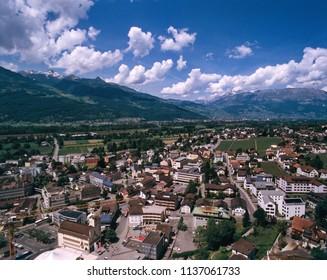 Vaduz overview from vista point, Liechtenstein