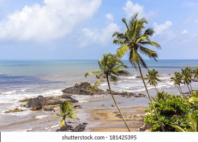 Vagator Beach has wonderful red cliffs, admirable Arabian Sea and golden sand - one of busiest places and tourist attraction places of rest. Vagator Beach is northernmost beach of Bardez Taluka, Goa.