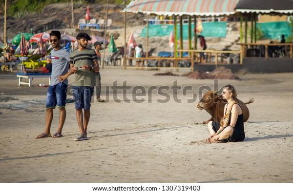 Vagator Goa India Jan 29 2019 Stock Photo (Edit Now) 1307319403