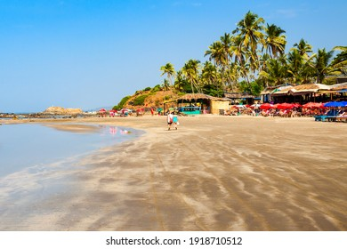Vagator or Ozran beach in north Goa, India