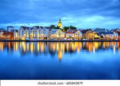 Vagen Harbor Reflection, Stavanger, Norway