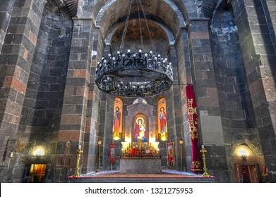 Vagharshapat , Armenia - Jul 8, 2018: Saint Hripsime Churchis a seventh centuryArmenian Apostolicchurch. It is one of the oldest surviving churches in the country.