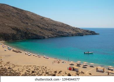 Vagia beach at Serifos, Cyclades, Greece