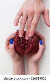 Vagina Caress Masturbation Satisfaction Touch Man Hand Pussy Sex Pleasure Love Concept