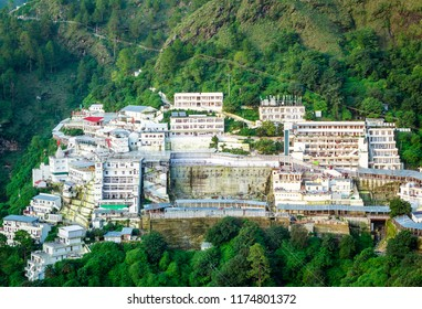 Vaishno Devi in Katra Jammu India.Vaishno Devi Mandir) is a Hindu temple dedicated to the Hindu Goddess, located in Katra at the Trikuta Mountains within the Indian state of Jammu and Kashmir