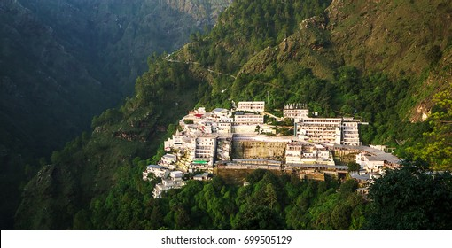 VAISHNO DEVI,KATRA INDIA-AUGUST 15TH 2017:Vaishno Devi Mandir is a Hindu temple dedicated to the Hindu Goddess, located in Katra at the Trikuta Mountains within the Indian state of Jammu and Kashmir