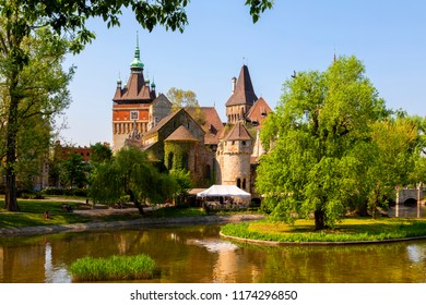 Vajdahunyad  Castle is a replica  in the City Park of Budapest, Hungary.