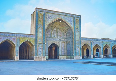 Vakil mosque is one of the most beautiful buildings in city, preserved since the Middle Ages, Shiraz, Iran.