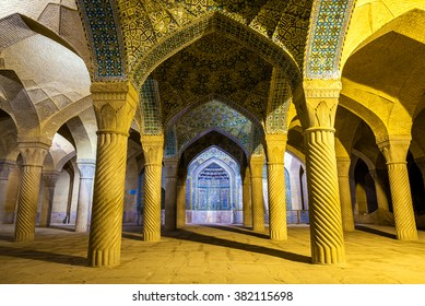Vakil Mosque, a mosque in Shiraz, southern Iran. This mosque was built between 1751 and 1773, during the Zand period