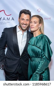 Val Chmerkovskiy, Peta Murgatroyd attends 9th Annual Face Forward Gala at Beverly Wilshire Hotel, Beverly Hills, California on September 22nd, 2018