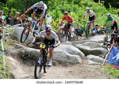 Val di Sole, Italy, August 04 2019 HENRIQUE AVANCINI during the Coppa del Mondo Cross-Country - Val di Sole UCI MTB World Cup 2019 - Men CICLISMO MTB - MOUNTAIN BIKE