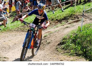 Val di Sole, Italy, August 04 2019 PAULINE FERRAND PREVOT during the Coppa del Mondo Cross-Country - Val di Sole UCI MTB World Cup 2019 - Women CICLISMO MTB - MOUNTAIN BIKE