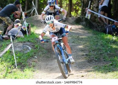 Val di Sole, Italy, August 04 2019 JOLANDA NEFF during the Coppa del Mondo Cross-Country - Val di Sole UCI MTB World Cup 2019 - Women CICLISMO MTB - MOUNTAIN BIKE