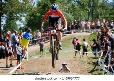Val di Sole, Italy, August 04 2019 ANNE TAUBER during the Coppa del Mondo Cross-Country - Val di Sole UCI MTB World Cup 2019 - Women CICLISMO MTB - MOUNTAIN BIKE