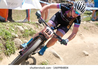 Val di Sole, Italy, August 04 2019 CHRYSTELLE BAUMANN during the Coppa del Mondo Cross-Country - Val di Sole UCI MTB World Cup 2019 - Women CICLISMO MTB - MOUNTAIN BIKE