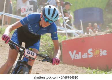 Val di Sole, Italy, August 04 2019 KATARZYNA SOLUS-MISKOWICZ during the Coppa del Mondo Cross-Country - Val di Sole UCI MTB World Cup 2019 - Women CICLISMO MTB - MOUNTAIN BIKE