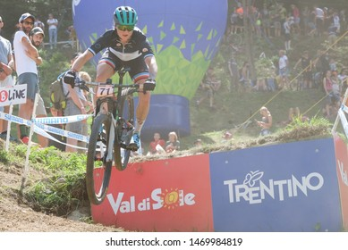 Val di Sole, Italy, August 04 2019 CINDY MONTAMBAULT during the Coppa del Mondo Cross-Country - Val di Sole UCI MTB World Cup 2019 - Women CICLISMO MTB - MOUNTAIN BIKE