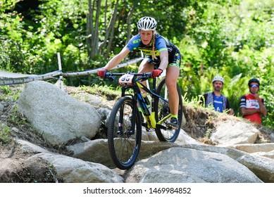 Val di Sole, Italy, August 04 2019 LUCIE VESELA during the Coppa del Mondo Cross-Country - Val di Sole UCI MTB World Cup 2019 - Women CICLISMO MTB - MOUNTAIN BIKE