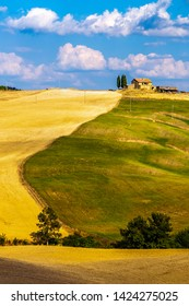 Val D'Orcia,Tuscany,Italy 12 August 2010:  Val d'Orcia landscape ,