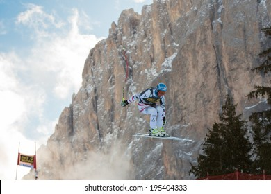VAL GARDENA - GROEDEN,  ITALY, December 21 2013. STREITBERGER Georg (AUT) races down the Saslong competing in the Audi FIS Alpine Skiing World Cup MEN'S DOWNHILL