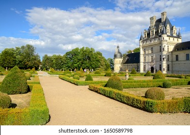 Valance, France -  august, 20, 2016: Valance castle one of the castles of the Loire, in summer on a sunny day