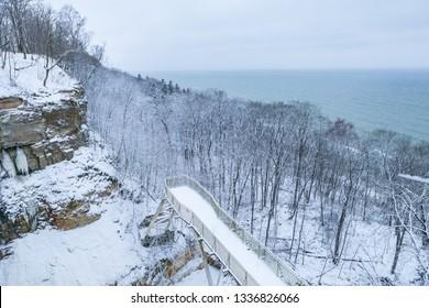 Valaste waterfall in winter
