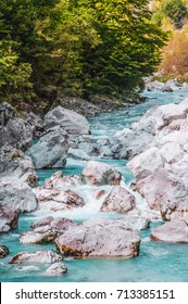 Valbona river north of Albania national park attraction flowing river cold clear water
