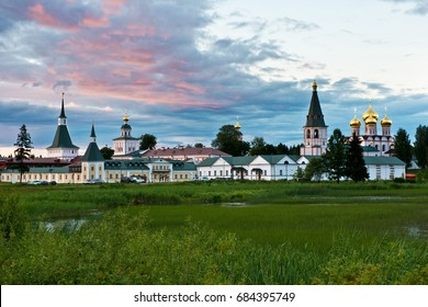 Valday Iversky Bogoroditsky Svyatoozersky Monastery (1653)/ Summer scene/ Valday/ Novgorod region/ Russia
