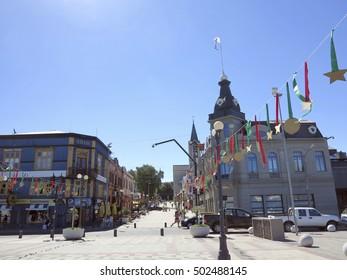 VALDIVIA, CHILE - DEC 24 - 2013 - view of valdivia, chilean town
