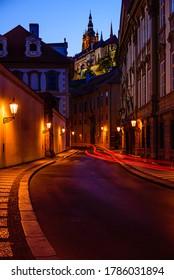 Valdstejnska street is a street in downtown of Prague below the castle in Czech republic. - Shutterstock ID 1786031894