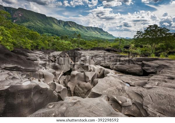 Vale da Lua (Moon Valley), Chapada dos Veadeiros, Goias, Brazil