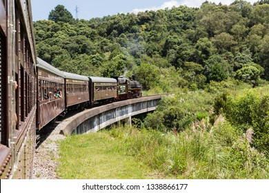 VALE DOS VINHEDOS , BRASIL - JANEIRO 22, 2017: Located in the mountains of Rio Grande do Sul is one of the main tourist attractions of Brazil, with several wineries and the touristic train.