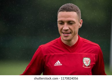 Vale of Glamorgan Hotel, Wales, 3/9/18: Aston Villa's James Chester in training for Wales