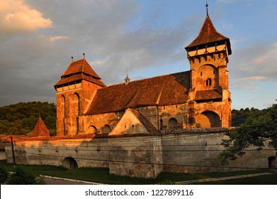 Valea Viilor, Transylvania / Romania - June 16 2008: One of the fortified churches in Transylvania founded by the Transylvanian Saxons.