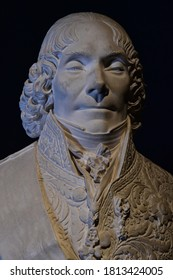 Valencay; France - july 13 2020 : a bust of Talleyrand in the castle