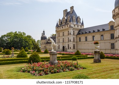 VALENCAY / FRANCE - JULY 2015: View to Valencay castle in Loire Valley, France