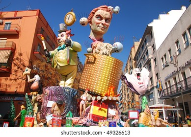 "VALENCIA - ALAQUAS, SPAIN - MARCH 17: Las Fallas (literally means ""the fires"" in Valencian) march 17, 2010 in Valencia, Spain."