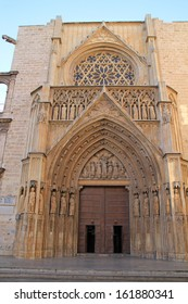 Valencia cathedral, spain. Apostles Gate.