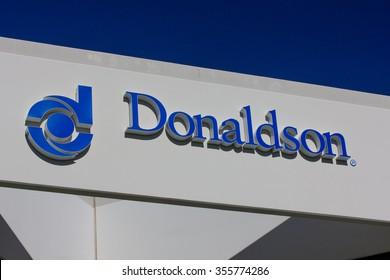 VALENCIA CA/USA - DECEMBER 26, 2015: Donaldson Company exterior and logo. Donaldson Company, Inc. is a filtration company.